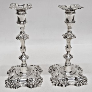 George III Silver Candlesticks