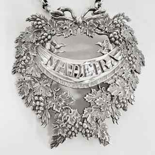 George III Silver Wine Label