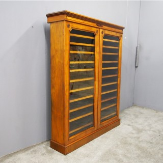Victorian Walnut Collectors Cabinet