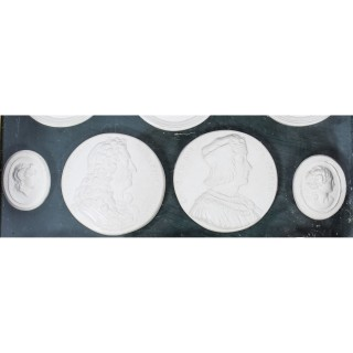 Antique set 10 Grand Tour Intaglios of French Kings and Classical Busts 19th C