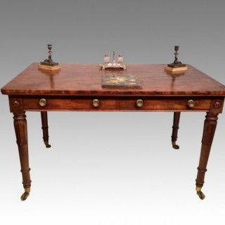 William IV mahogany writing table.