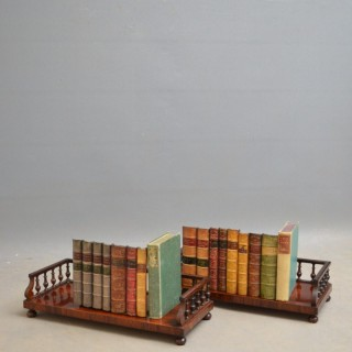 Pair of George IV Rosewood Book Stands