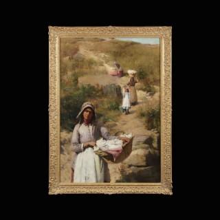 'Les Lavandieres' by Sir William Llewellyn PRA