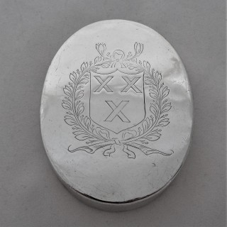 Early armorial Charles II silver tobacco box London 1664 Simon Noyes