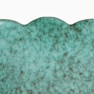 Marcel Noverraz 1930s Large Turquoise Vase