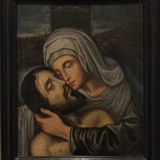'The Lamentation' Spanish School Late 16th Century Painting