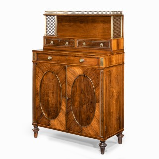 Regency rosewood two door side cabinet, attributed to John McLean