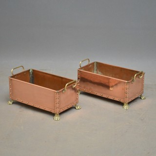 Pair of Decorative Copper Troughs – Planters