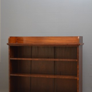 19th Century Mahogany and Rosewood Open Bookcase