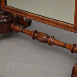 Superb Early Victorian Mahogany Dressing Table Mirror
