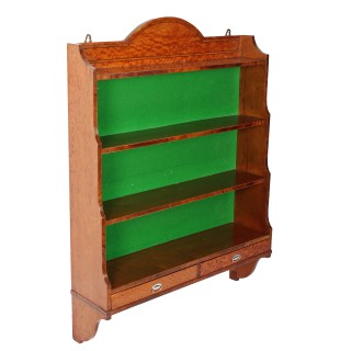 Satinwood & Mahogany Wall Shelves