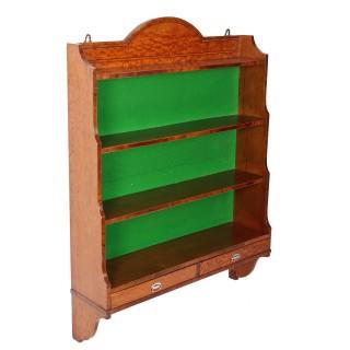 Satinwood & Mahogany Wall Shelves
