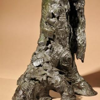 A very decorative bronze model of a hawk