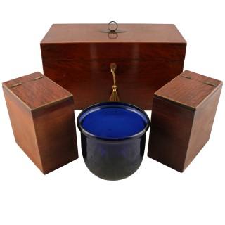 Georgian Partridge Wood Tea Caddy
