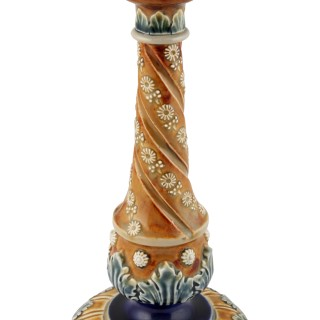 19th Century Doulton Lambeth Candlestick