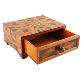 Victorian Parquetry Inlaid Box
