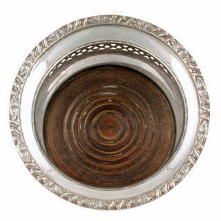 Victorian Silver Plated Bottle Coasters