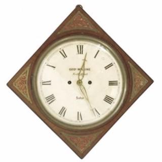 Rare Wilkins Diagonal Wall Clock.