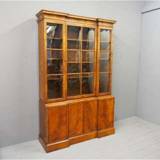 Pepys Style Reverse Breakfront Cabinet Bookcase