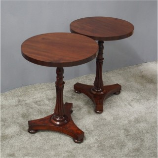Pair of 19th Century Mahogany Occasional Tables