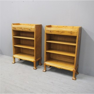 Pair of Bleached Mahogany Bookcases by Whytock and Reid