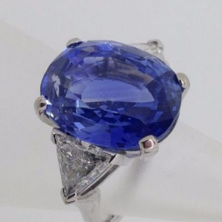 19.35 Carat Sapphire and Diamond Ring
