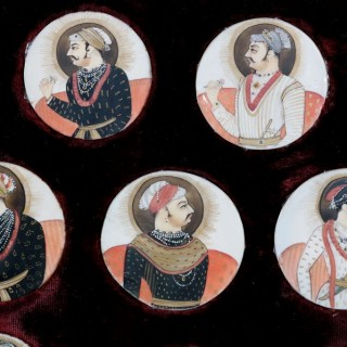 INDIAN MINIATURE GROUP OF 13 MUGHAL RULER PORTRAITS