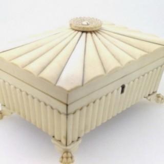 Anglo Indian Ivory Vizagapatam  Box.