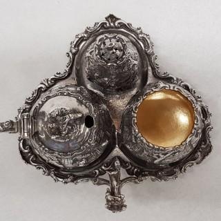 Antique Silver Condiment Set