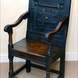 Armchair, English oak, Lancashire/South Lakes origin