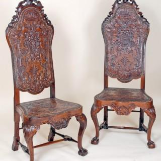 A fine pair Jose I side chairs, Portuguese South American origin