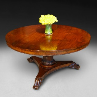 Regency period Rosewood Circular Dining Table