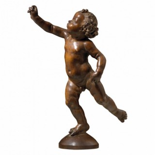 POISED PUTTO ON A GLOBE AFTER ANDREA DEL VERROCCHIO