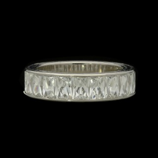 Hancocks Platinum half Eternity Ring Channel-set with French-cut Diamonds weighing 3.67cts