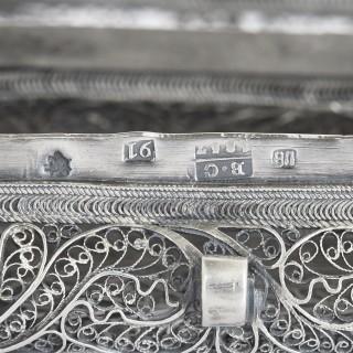 19th Century Jewish silver filigree spice box