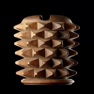 Italian Renaissance 'Braccia' a Carved Walnut Wooden Glove