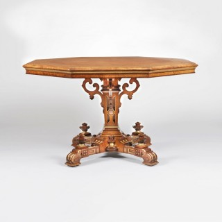An Amboyna Octagonal Centre Table