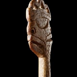 Northwest Coast Tlingit Whalebone Salmon Trap Stake or Trigger