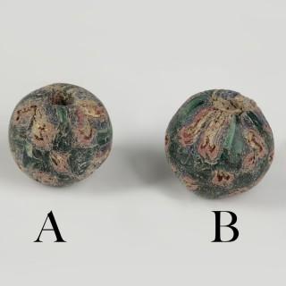 Roman Glass Ball Beads