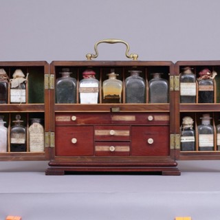 Georgian Mahogany Travelling Physician's Apothecary Box