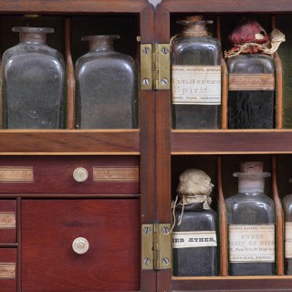 Georgian Mahogany Travelling Physician's Apothecary Box