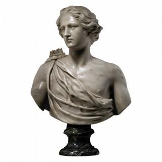 BUST OF APOLLO – 18TH CENTURY ROMAN | STATUARY MARBLE