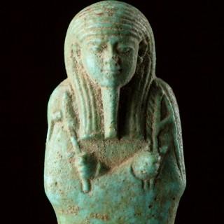 Ancient Egyptian Turquoise Blue Faïence Ushabti