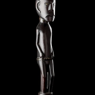 Rare South African Tsonga / Zulu Carved Ebony Prestige Staff