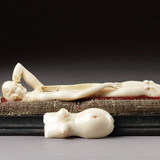Rare German Nuremberg Carved Ivory Anatomical Model of a Pregnant Woman by Stephan Zick (1639 - 1715)