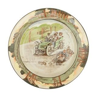 Royal Doulton Motoring Plate - A Nerve Tonic