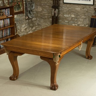 Antique Oak Snooker Table, Billiard  or Pool, Dinning Table by Riley.