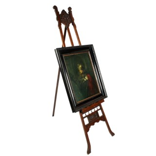 Large Art Nouveau Oak Easel