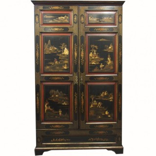 Chinoiserie 2 Door Wardrobe