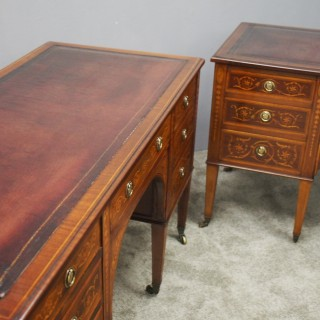 Pair of Kneehole Desks by Maple and Co.